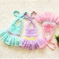 3 traje de baño de color girls una pieza de baño niños que nadan traje sirenita niños de traje de baño sólido niños trajes de baño