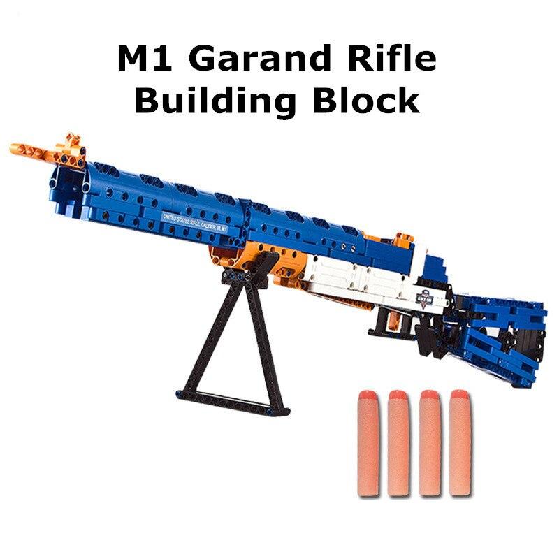 Gun Block M1 Garand Rifle 583pcs Shooting Model Building