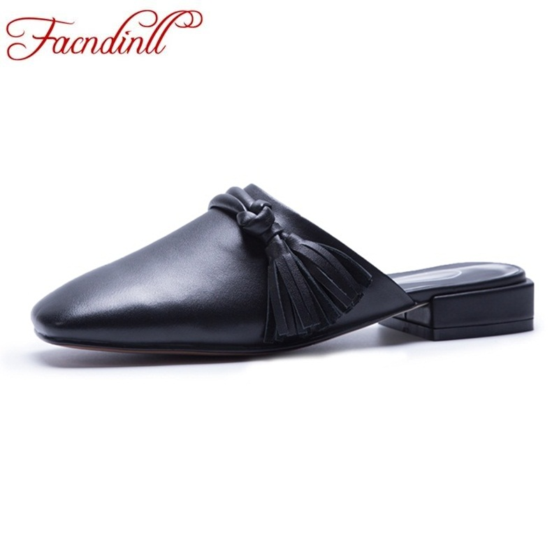 FACNDINLL high quality genuine leather sandals simple low heelssquare toe shoes woman dress party casual summer women slipper vankaring new sandals shoes women cruare strange style low heel open toe summer woman black dress party casual sandals slipper