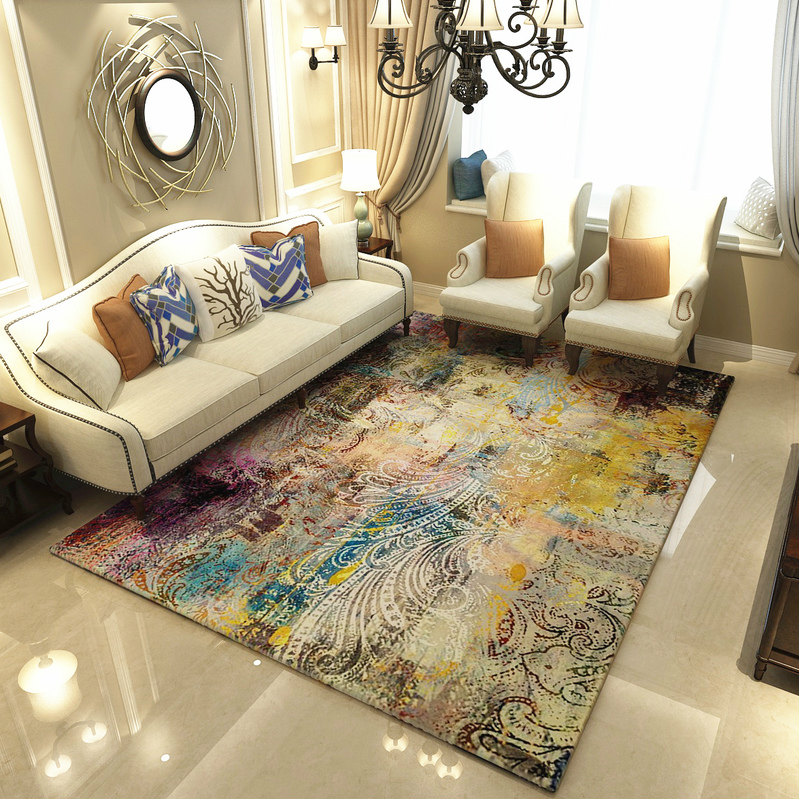 US $36.33 50% OFF|Modern Art Carpets For Living Room Abstract Area Rugs For  Bedroom Home Decor Coffee Table Floor Mat Study Carpet Cloakroom Rug-in ...