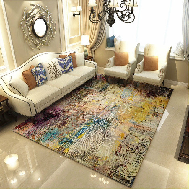 Modern Art Carpets For Living Room Abstract Area Rugs For Bedroom