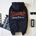 2016 palácio skates thrasher homens windbreaker hoodies com capuz de manga comprida camisola hip hop mens treino tops clothing