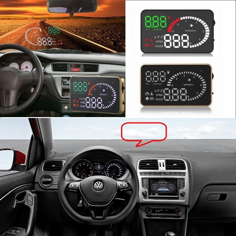 Liislee Car HUD Head Up Display For VW Polo Passat B5 B6 B7 Golf4 Golf7 Tiguan T5- Safe Screen Projector / OBD II Connector for vw passat b6 b7 cc golf jetta mk5 mk6 tiguan head up display lights 5 5 car hud head up display projector obd ii lamps