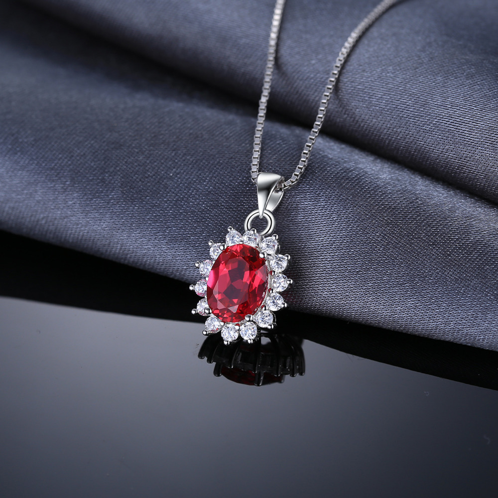 Jewelrypalace 32ct oval red ruby pendant genuine 925 sterling jewelrypalace 32ct oval red ruby pendant genuine 925 sterling silver charms princess diana william engagement pendant no chain in pendants from jewelry mozeypictures Gallery
