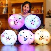 Emoji Smile Plush Luminous Pillow Christmas Toys Led Light Pillow Plush Pillow Kids Toys Birthday Gift