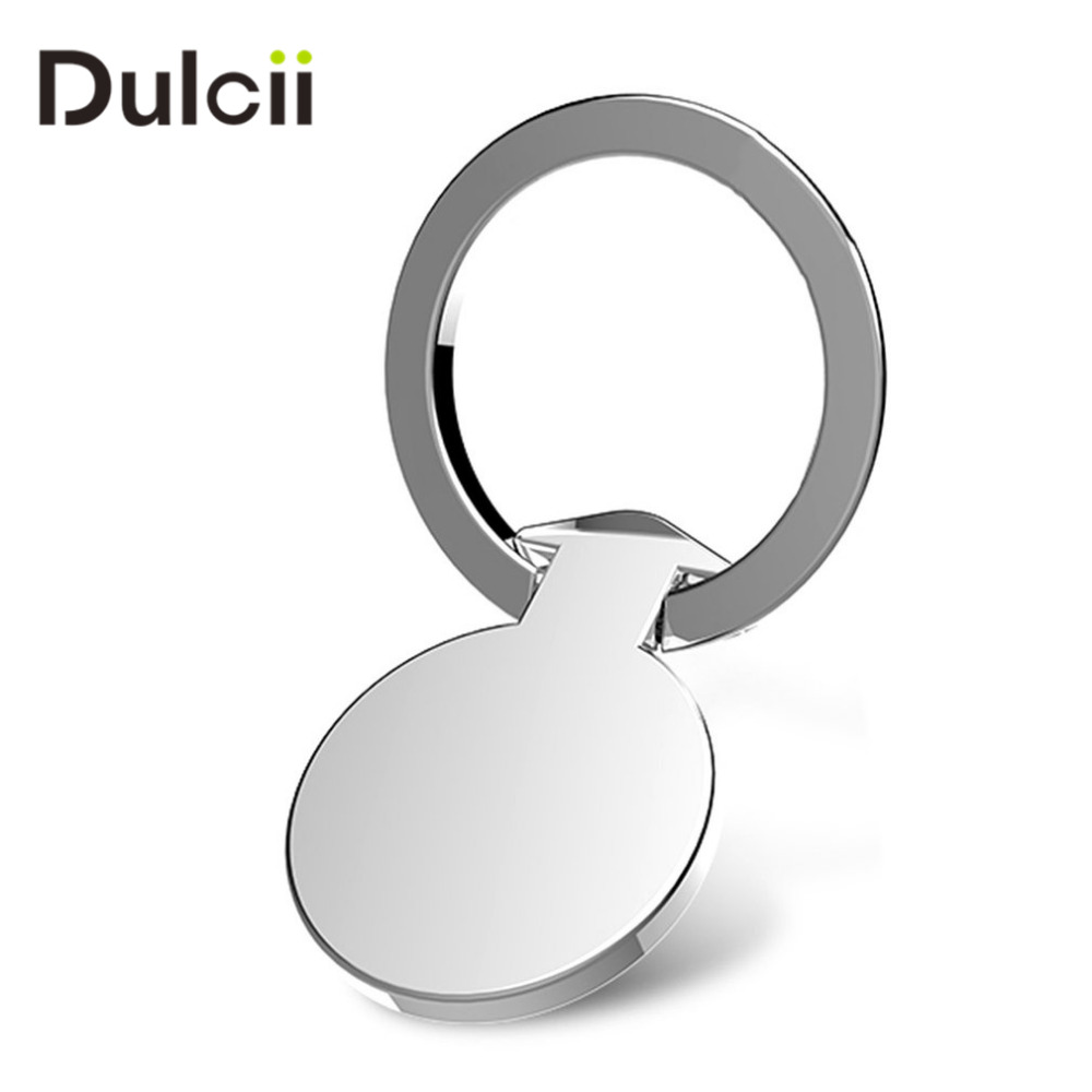 DULCII Phone Finger Ring Stand 360 Degree Free Rotate Holder Zinc Alloy Metal Grip Kickstand Mobile Cell Smartphone Desk Mount