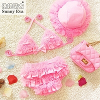 Güneşli eva kızlar bikini çocuk bikini mayo mayo bebek çocuk mayo kız iki parça disfraces infantiles kostümleri Bikini