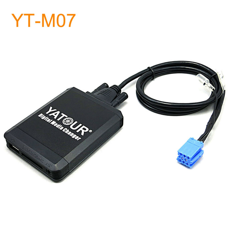 Yatour Car MP3 USB SD CD Changer for iPod AUX with Optional Bluetooth for Alfa Romeo 147 156 159 Brera Spider MiTo GT yatour car adapter aux mp3 sd usb music cd changer 8pin cdc connector for renault avantime clio kangoo master radios