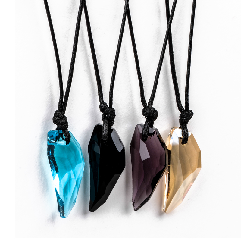 Charms Unisex Long Rope Chain Necklaces Shellhard Adjustable Crystal Wolf Tooth Pendant Satement Necklace Women Fashion Jewelry