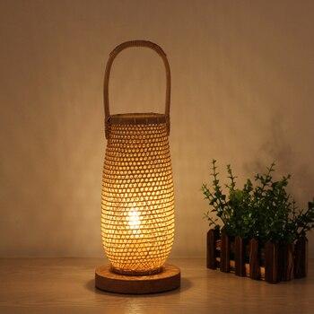Cesta de mimbre de bambú hecha a mano, accesorio de lámpara de...