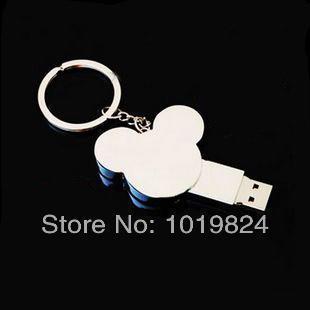 Christmas giftWholesale  mickey head cartoon  flash memory 8GB 16GB USB 2.0 Flash Memory Stick Drive Thumb/Car/Pen Gift S244