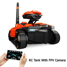 RC Tank with HD Camera ATTOP YD-211 Wifi FPV 0.3MP Camera App Remote Control Tank RC Toy Phone Controlled Robot(China)
