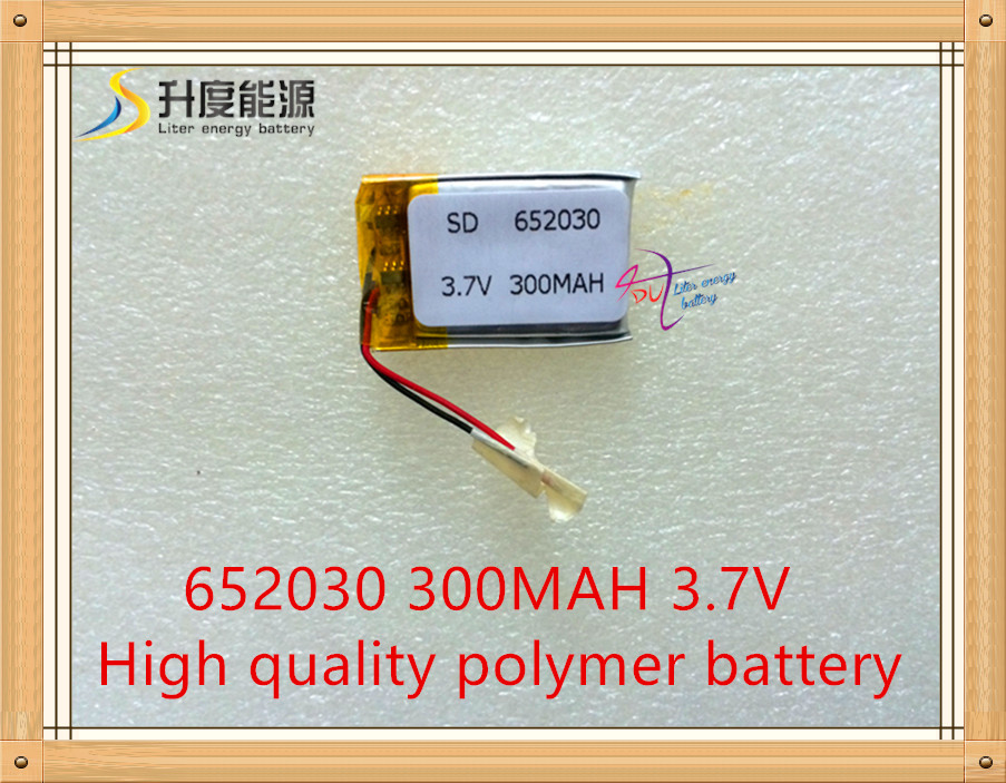 New Lithium battery 652030P 3.7V 300mah,use for mp3 mp4