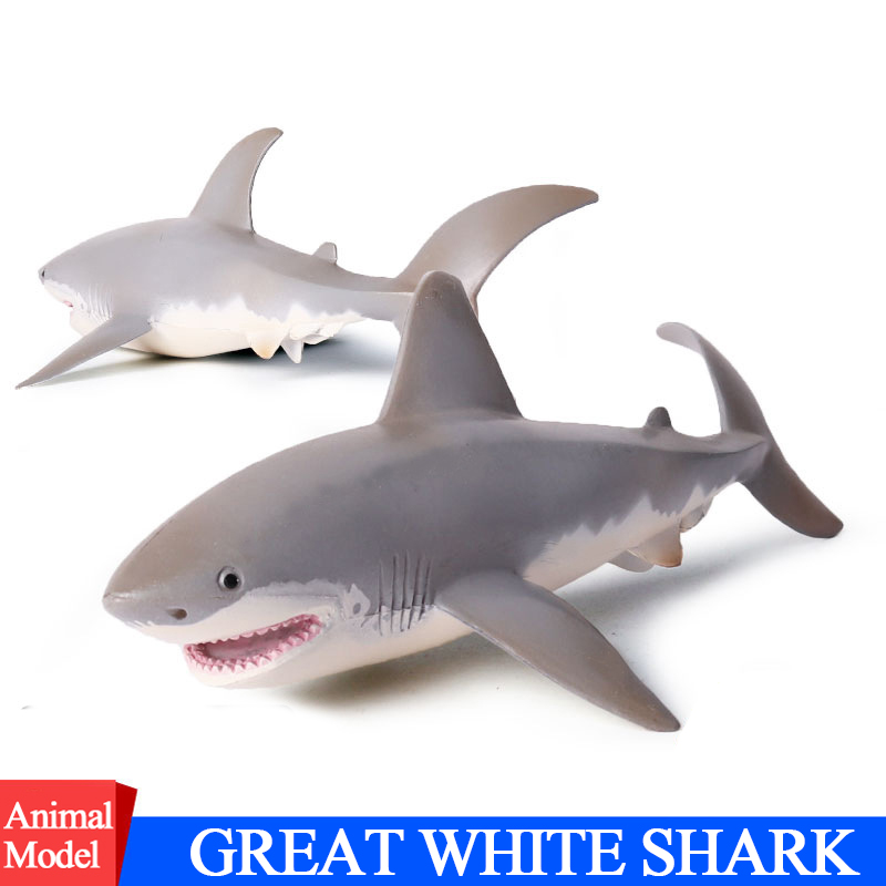 Action&Toys Figure Ocean Marine World Biological Animal PVC Great White Shark Toy Collection Model Doll Figure For Kid Gift street fighter v chun li bigboystoys with light action figure game toys pvc action figure collection model toys kids for gift