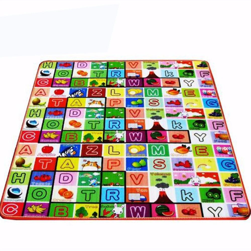 Baby Soft Developing Crawling Mat Foam Floor Children Activity Mat Kids' Rug Toys Carpet Infant Cartoon Letters 2