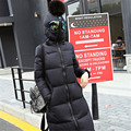 2016 Новый дизайн зимняя куртка женщин парки хлопок вниз в очках свободная посадка пальто средней длины лоскутное плюс размер пальто