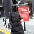 2016 Nuevo diseño de invierno chaqueta de las mujeres parkas de algodón hacia abajo con gafas de ajuste holgado abrigo medio largo del remiendo más el tamaño de abrigo