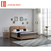 Дешевые цены Королева Размер конструкций двухъярусная кровать рамка с картинками для hotel