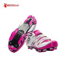 BOODUN Brand Professional Women's Cycling Shoes Road Mountain Bike Shoes Self-locking Bicycle MTB Shoes Zapatillas Ciclismo