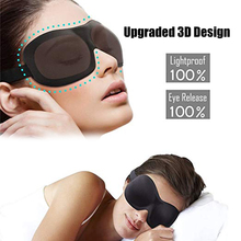 Eye Sleep Mask 3D Natural Breathable Eyepatch Black Cover Bandage Soft Portable Complete Eyeshade Blinders Day Night Travel Tool