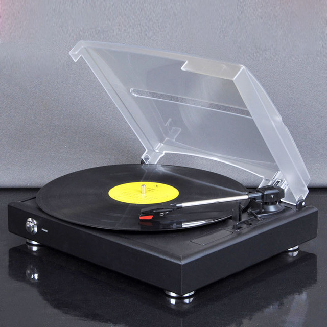 New Turntable Vinyl Record Player 33 45 78 Three Speed