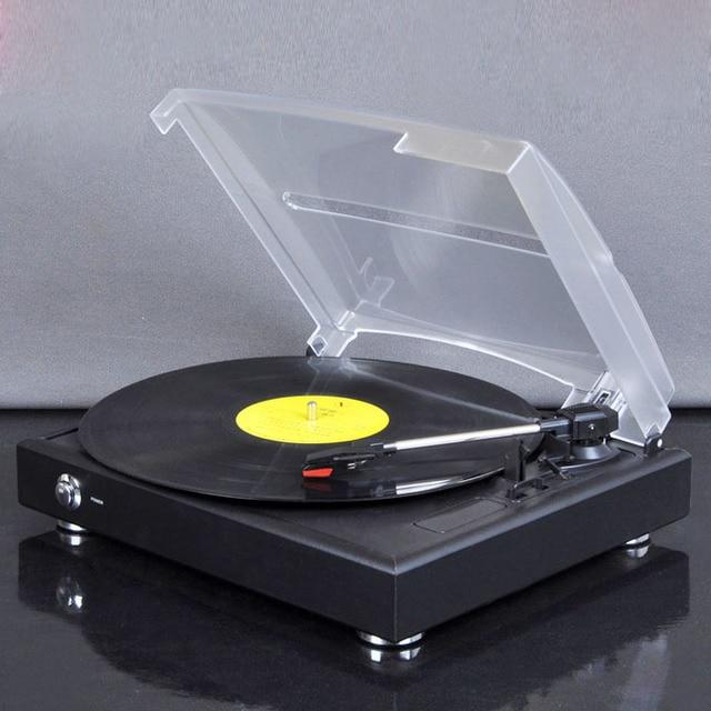 nouvelle platine vinyle tourne disque 33 45 78 trois vitesse phonographe usb br leur antique. Black Bedroom Furniture Sets. Home Design Ideas