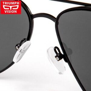 Image 4 - TRIUMPH GÖRÜŞ Reçete Gözlük Erkekler Pilot Optik Gözlük Reçete Güneş Gözlüğü Miyopi Oculos Homme Gafas Brillen