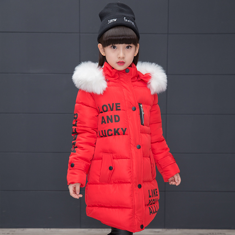 9832bddc 2018 New Jackets Girls Autumn Winter Coat Cotton Padded Fur Hooded Kids  Jacket For Girls Clothes. sku: 32823644696