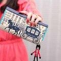 2015 Nuevo Diseñador Caballo Imperial billetera Remache Largo Carpetas de Las Mujeres Del Mitón Del Monedero de la Señora con el Príncipe Etiqueta Columpio