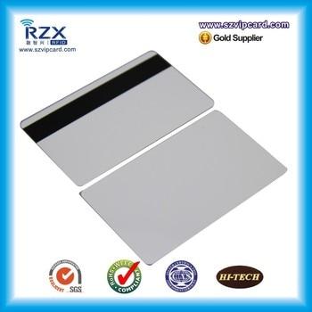 500pcs Loco black magnetic stripe card blank PVC card 300Oe