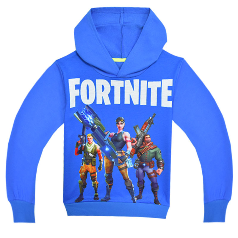 Boys Long Sleeve T-shirt Boy Game Fortnite Battle Royale Clothes Youth White T Shirts Childrens Sweatshirts Kids Tops Hoodies
