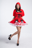 Sexy Cosplay Little Red Riding Hood Queen Princess Costume Halloween Costumes For Women