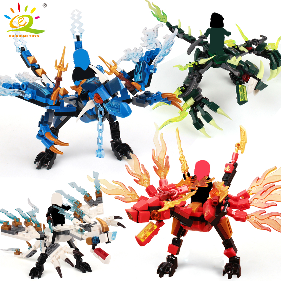 115pcs+ ninja dragon knight building blocks enlighten toy for children Compatible DIY bricks for boy friends(China)