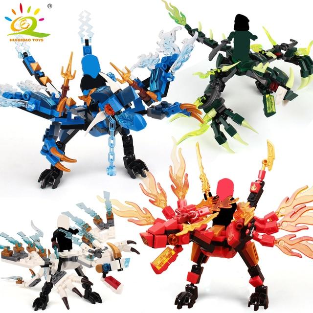 115 pcs + ninja dragon knight blocos iluminar tijolos de brinquedo para as crianças DIY Compatível para amigos menino