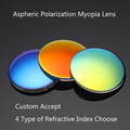 (No Astigmat) Prescription Sunglasses Customize Accept Aspherical Polarization Myopia Lens With UV400 Film Hard Film 1.61 index