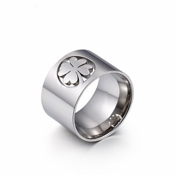 High Polished Stainless Steel Clover Ring For Women Gold/Silver Color Finger Rings Fashion Jewelry  1