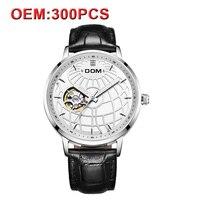 DOM индивидуальный заказ ваш логотип автоматические часы мужские дизайн кожа Wrsitwatch для мужчин спортивные часы эксклюзивный, японский часово