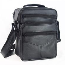 Gran oferta de bolsos de diseñador para hombre, bandolera de cuero genuino, de negocios