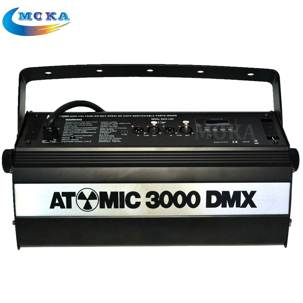 2pcs/lot 3000W Atomic Strobe Stage Light Professional Effect Stage Lighting Show For Bar KTV Party Strobo scope