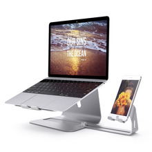 Spinido 2 in 2 Premium Exquisite Aluminum Laptop Stand&Adjustable Magnesium tablet holder support tablet All laptops&phones