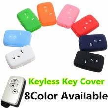 Car 3 Buttons Silicone Fob Remote Key Case Cover For Toyota Prado Crown Reiz