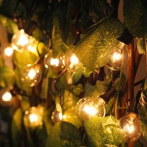 Image 5 - G40 küre noel dize işık parti peri garland düğün bahçe partisi ağacı sokak veranda ışıkları peri Vintage ampuller açık