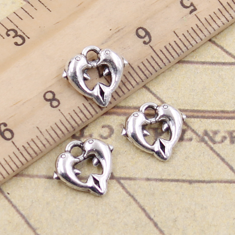 5pcs Witch Heart Beads Tibetan Silver Charms Pendant DIY Jewelry Making 25mm