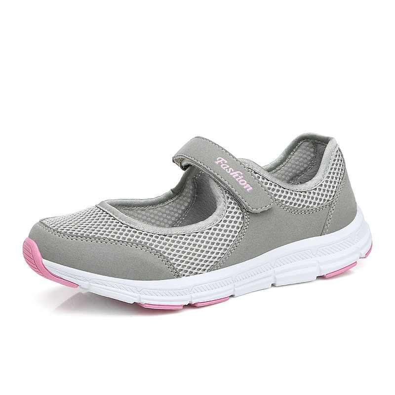 ZHENZU Women Sport Shoes Summer Breathable Brand Sneakers Outdoor Mesh Antislip Female Running Shoes Ladies Light Flats Footwear