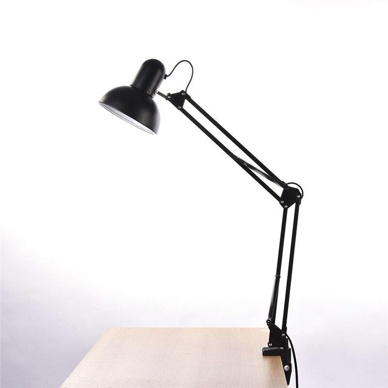 Geruite Schreibtischlampe Flexiblen Led Lampe Büro Führte Tischleuchte Metall Architekten Verstellbare Falten Leselicht Licht & Beleuchtung Lampen & Schirme