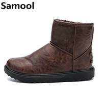 Unisex Winter Snow Brand Ankle Rubber Casual Boots Fashion Men Winter Shoes Comfortable Men Winter Australian