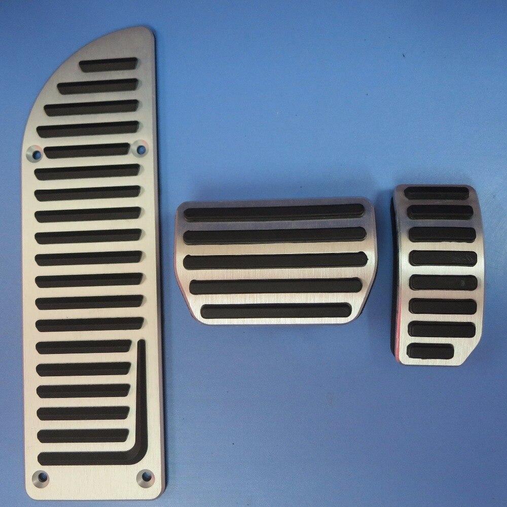 DEE Acessórios Do Carro liga de Alumínio do acelerador pedal de freio gás para VOLVO S60 S80L XC60 S60L V60 V70 NA chapa do pedal pads covers