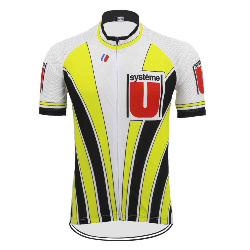 NEW basic males Group Bike Biking Jersey Tops Breathable yellow/black Outside sports activities biking clothes Tour de France custom-made Biking Jerseys, Low cost Biking Jerseys, NEW basic males Group...