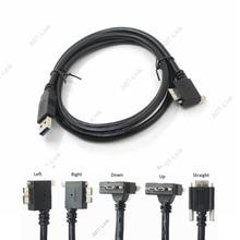 USB 3.0 a b 90 Graden Rechts & Links & Up & Down Schuine Micro B USB 3.0 Met lock Schroeven Monteren datakabel 1.2 m 3 m 5 m