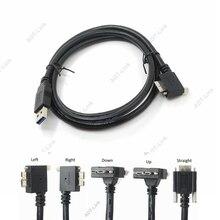 USB 3.0 a b 90 degrés à angle droit et gauche et haut et bas Micro b USB 3.0 avec vis de verrouillage câble de données de montage 1.2 m 3 m 5 m